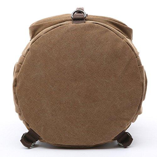 BAOSHA HB-26 3-Ways Vintage Canvas Men Holdall Weekend Travel Duffel Bag Backpack Messenger Shoulder Bags Convertible Travel Hiking Rucksack Weekender Overnight Bag Handbag (Black) by Baosha (Image #4)