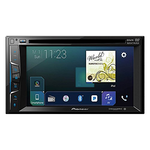 Pioneer AVH-1300NEX Multimedia DVD Receiver with 6.2 WVGA Display Apple CarPlay Built-in Bluetooth SiriusXM-Ready AppRadio Mode
