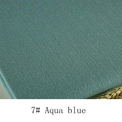 Fabric - 1Pc 1 Meter Length 148cm Width Cotton Knitted Fabric Stretchy Cotton Fabric for DIY Sewing Clothing Making Accessories (Aqua Blue)