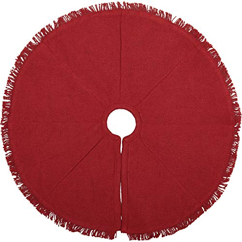 VHC Brands Holiday Decor Festive Burlap Mini Tree Skirt, 21