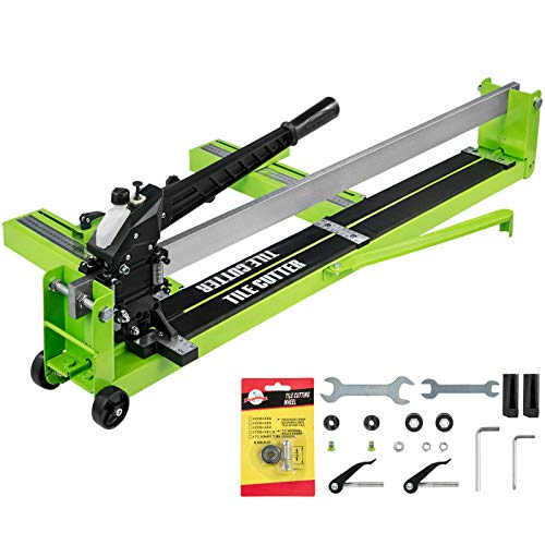 BestEquip Tile Cutter 31.5-Inch Manual Tile Cutter 1.4-Inch Tile Cutting Machine Ceramic Porcelain Tile Cutter w/Laser Guide All-Steel Frame and Bonus Spare Cutter Wheels Tile Cutter Hand Tool