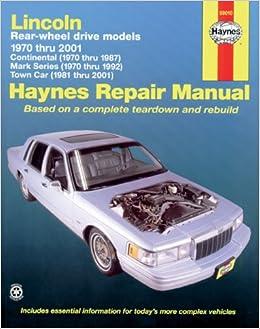 2001 lincoln ls manual
