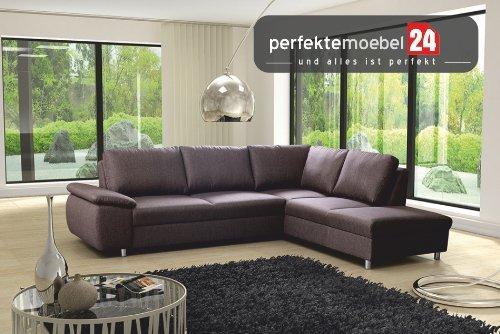 Couch mit Schlaffunktion Eckcouch Sofa Polster Ecke Wohnlandschaft TEMPO (sun)