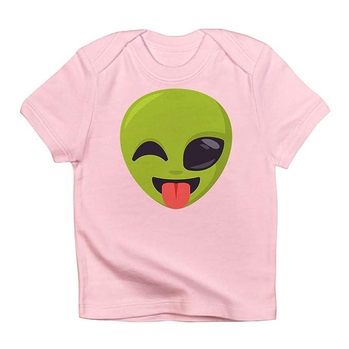 3733d4e65bd Image Unavailable. Image not available for. Color  CafePress Alien Tongue  Emoji Infant T Shirt Cute ...