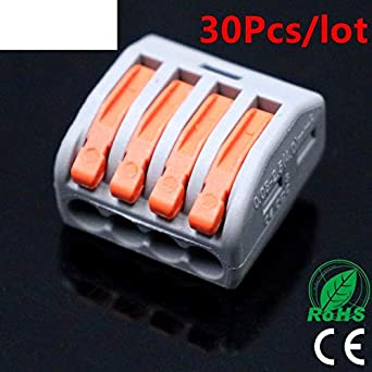 10pcs 4 Pin Universal compact wire connector conductor terminal block with lever