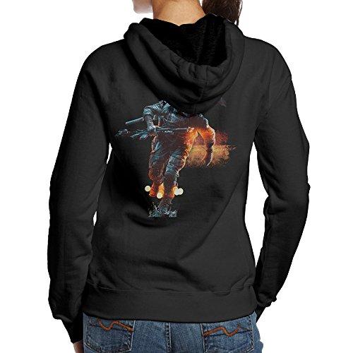 SAMMOI Battlefield Women's Long Sleeve Hoodie L Black