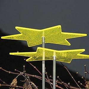 Licht & Laune ® Stern zitronengelb mit Schwingstab