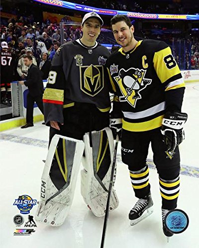 Marc-Andre Fleury & Sidney Crosby 2018 NHL All Star Game Photo (Size: 8