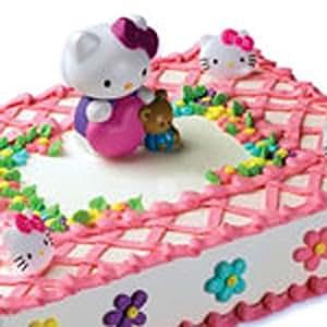 Amazon.com: Decopac Hello Kitty Bubble Blower DecoSet Cake ...