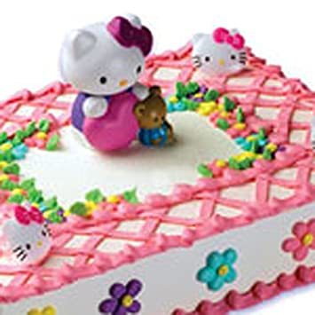 Amazoncom Decopac Hello Kitty Bubble Blower DecoSet Cake