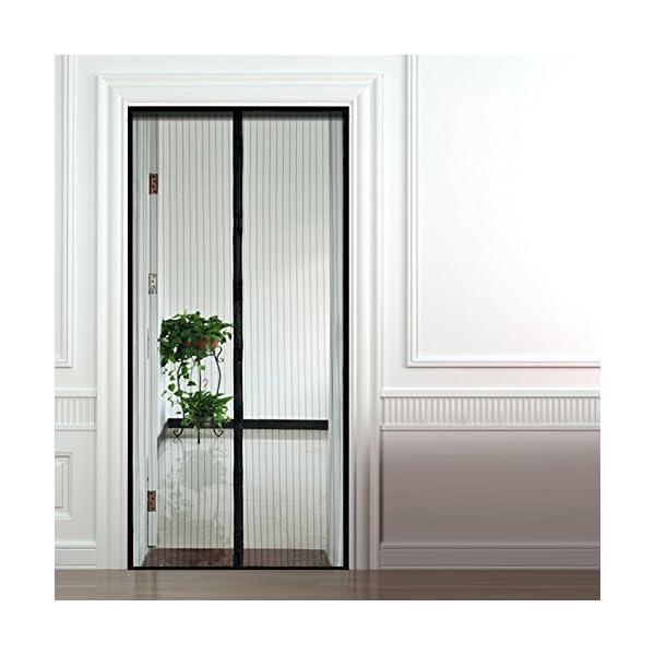 515CGOYlu%2BL Anpro Fliegengitter Tür Moskitonetz Tür 90 x 212CM, Insektenschutz Magnet Vorhang Fliegenvorhang für Balkontür…