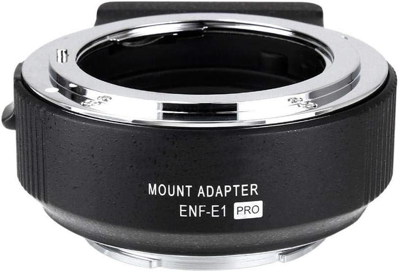 Bracon Lens Mount Adapter Commlite ENF-E1 PRO V06 Lens Mount Adapter Compatible with Nikon F Lens to Sony E-Mount