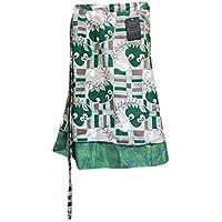 Womans Magic Wrap Skirt boho Silk Sari Reversible Two Layer Long skirt