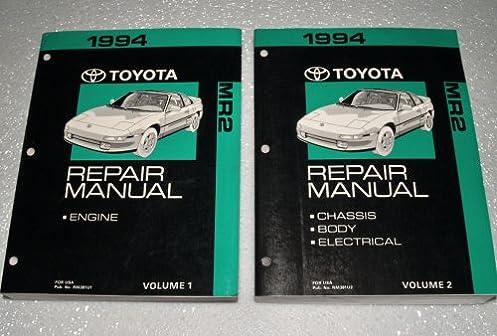 1994 toyota mr2 factory repair manuals sw20 sw21 series 2 volume rh amazon com 1993 Toyota MR2 2002 Toyota MR2
