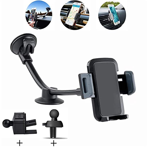 8dd34f8a08fe06 MAOBLOG Car Mount Holder 4 in 1 Long Arm Car Phone Mount with Dashboard  Windshield Air