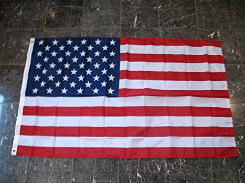 3X5 Usa Us U.S.A. 50 Stars Star American America Nylon / Poly Blend Flag 3'X5'