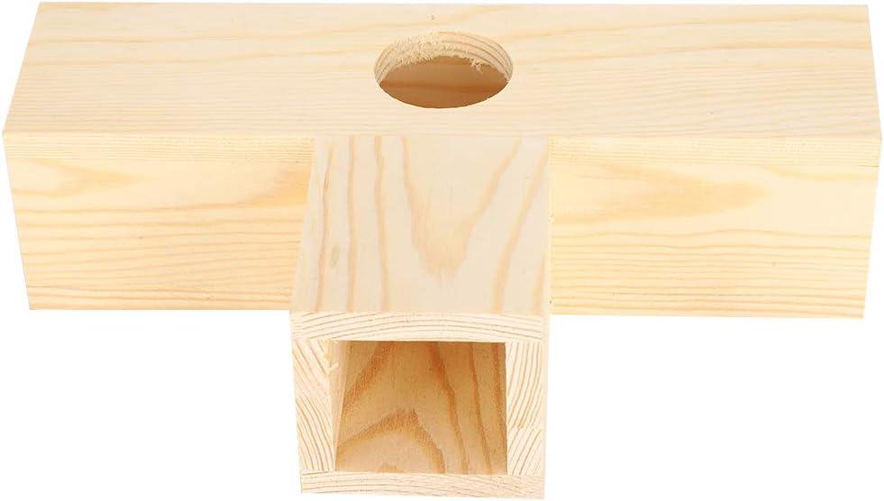 iFCOW - Túnel de hámster, tubo de madera para hámster, para mascotas pequeñas