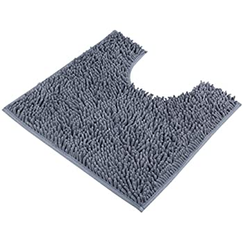 VDOMUS Contour Bath Rug, Soft Shaggy U Shaped Toilet Floor Mat Bathroom  Carpet,