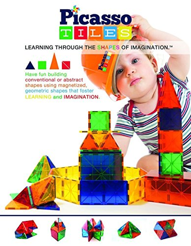 PicassoTiles-60-Piece-Set-60pcs-Magnet-Building-Tiles-Clear-Magnetic-3D-Building-Blocks-Construction-Playboards-Creativity-beyond-Imagination-Inspirational-Recreational-Educational-Conventional