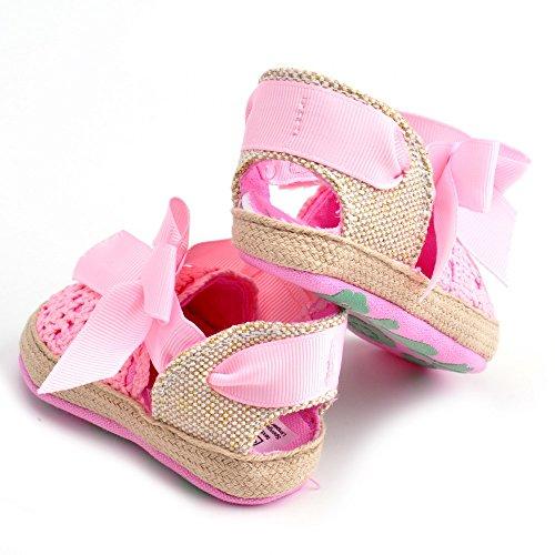 Bebé Niña Zapatos de verano infantil Sandalias tamaños de US, - caqui, 7-12 Months Rosa