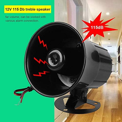 DC 12V Wired Alarm Loud Horn Siren for Home Security Protection System Indoor Outdoor Fireproof 115dB