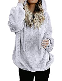 Corriee Fashion Sweater Outwear for Women 2018 Autumn Winter Warm Zip Up Hooded Sweatshirts Coat Solid