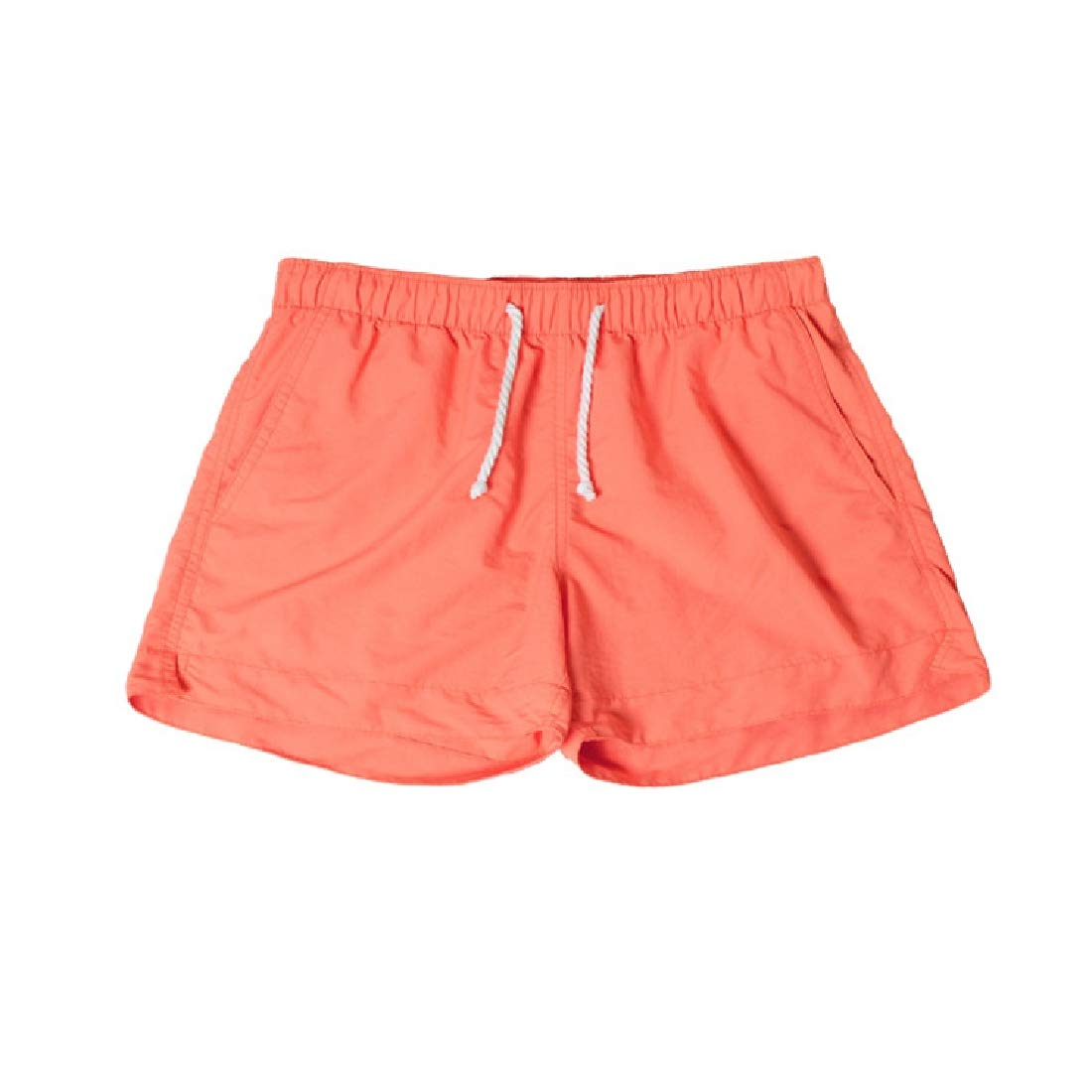 Abetteric Men Quick Dry Relaxed Shorts Athletic Fit Candy Color Beach Trousers