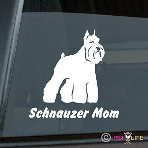 Schnauzer Mom Sticker Vinyl Auto Window v2