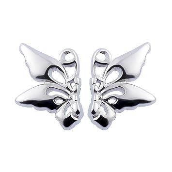 62e5f6dcbb4d CS Priority Boucles d oreilles clous papillons en plaqué argent pour femmes  et filles Cadeau