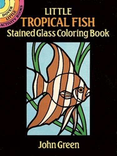 Little Tropical Stained Glass Coloring