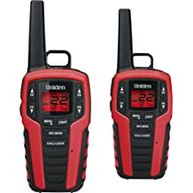 Uniden SX327-2CK 32-Mile MicroUSB FRS/GMRS Two-Way Radios with Charging Kit, 2-Pack, Maroon