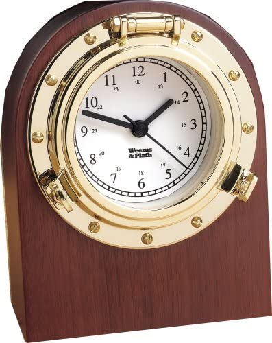Weems Plath Porthole Collection Desk Clock