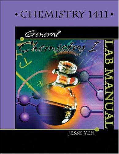 Chemistry 1411: General Chemistry I Lab Manual
