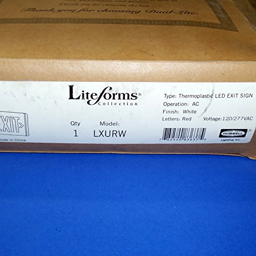 (DUAL-LITE 120/277VAC THERMOPLASTIC LED EXIT SIGN, LXURW *NEW*)