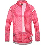 Santic Women's Windproof UV Protection Cycling Jacket Long Sleeve Wind Coat Pink