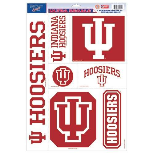 WinCraft Indiana Hoosiers Ultra Decal Set - 11'' X 17''