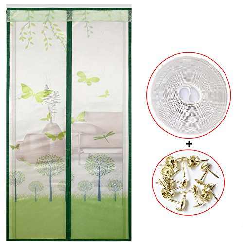 Magnetic fly screen door, Mosquito curtain Encryption Full frame magic sticker Mesh curtain Household Anti-mosquito Ventilation-G 70x200cm(28x79inch)