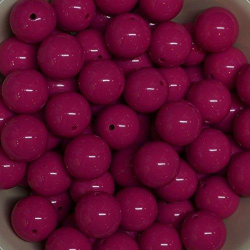 Pink Acrylic Beads - 4