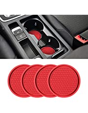 Car Cup Holder Coaster, 4 Pack 2.75 Inch Diameter Non-Slip Universal Insert Coaster, Durable, Suitable for Most Car Interior, Car Accessory for Women Men