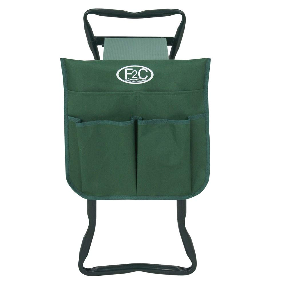 Good Concept Garden Kneeler Seat Bench Stool Foldable Soft Cushion w Tool Pouch by Good Concept (Image #3)