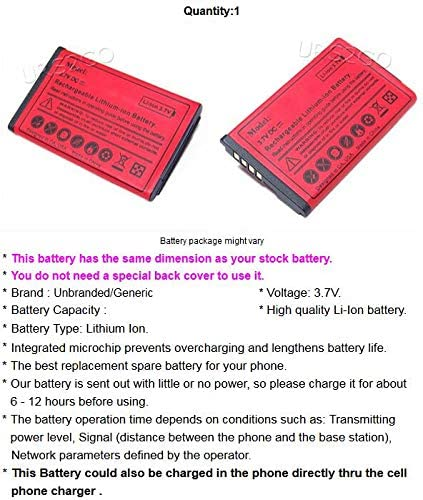 USA High-Performance 1350mAh Extended Slim Battery for Tracfone//NET10 LG 441G Phone