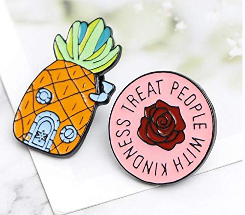 Creative Fruit Pineapple Clothing Rose Brooch (1) by Angelstore Brooch (Image #8)