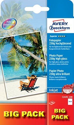 AVERY Zweckform C2495-100 Superior Inkjet Fotopapier (A6, einseitig beschichtet, hochglänzend, 230 g/m², 100 Blatt)