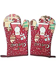 kangkang oven mitt 1 pair christmas gloves for microwave heat insulation