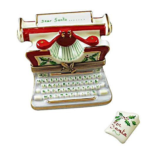(Christmas Typewritter Limoges Box)