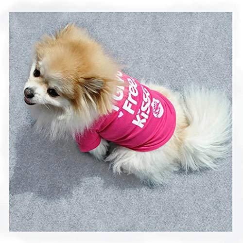 Petea Pet Apparel Dog cat Heart Kisses T-Shirt Puppy Summer Princess Clothes for Dogs and Cats