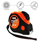 AIDOUT Measuring Tape Measure 25 Foot, Inches and Metric Measuring Tape For Construction, Home Use, Auto Lock, Magnetic Hook, Heavy Duty Nylon Bonded Blade & Rubber Covered Case