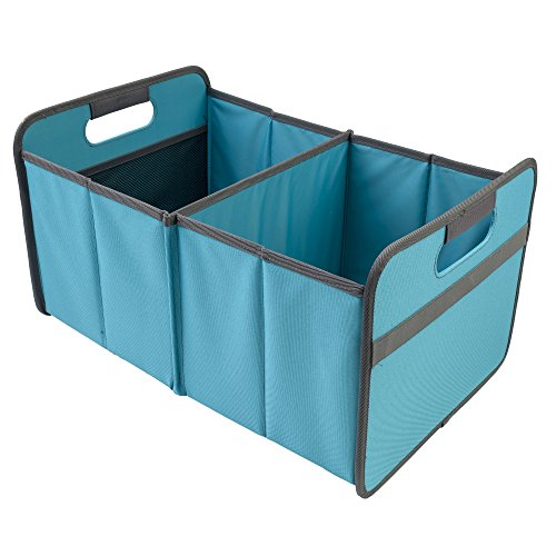 meori Classic Collection Large Foldable Storage Box, 30 Liter / 8 Gallon, in Azure Blue To Organize and Carry Up To 65lbs (Collapsable Basket)