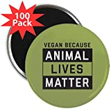 CafePress - Animal Lives Matter - 2.25'' Magnet (100 pack)