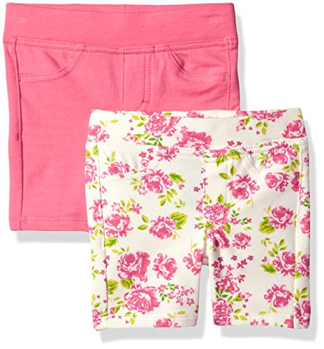 LEE Little Girls' 2 Pack berm Short, Flower, 5
